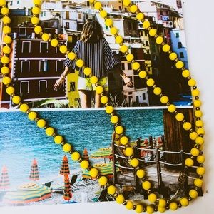 Jewelry - Xtra Long Yellow & Gold Beaded Necklace